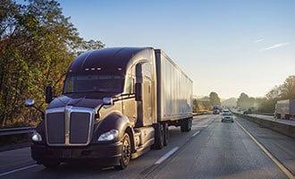 trailer hauling galvanized freight